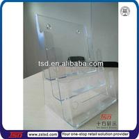 TSD-A567 Transparent plastic a4 a3 a5 brochure leaflet holder wall mounted,plexiglass pamphlet rack,acrylic booklet holder