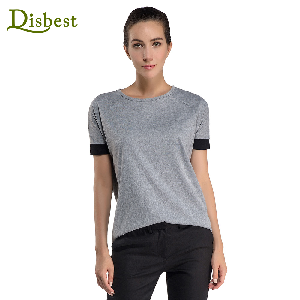 Wholesale Disbest Women High Quality Comfy Loose O Neck Short Sleeve Casual Seamless T shirt