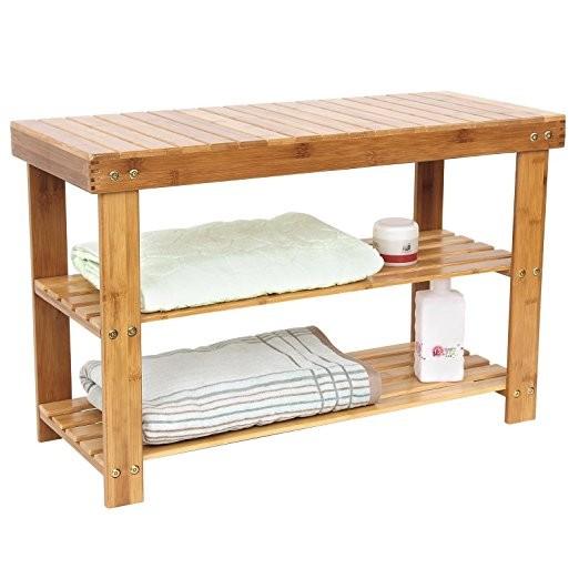 100 % Natural 3 tiers multipurpose bamboo shoe rack 7