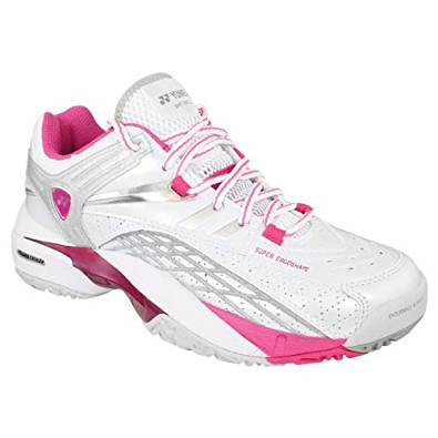Yonex Women's Power Cushion SHT-307LX Tennis Shoes (White/Magenta)