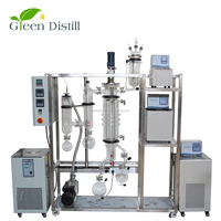 Stock Available Lab Equipment Short Path Thin Film Wiped Film Distillation Evaporator for Purifying CBD