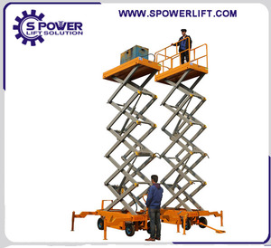 China 6m 8m 10m 12m 14m 16m 20m height small auto mobile/stationary elevator hydraulic scissor lift with promote price