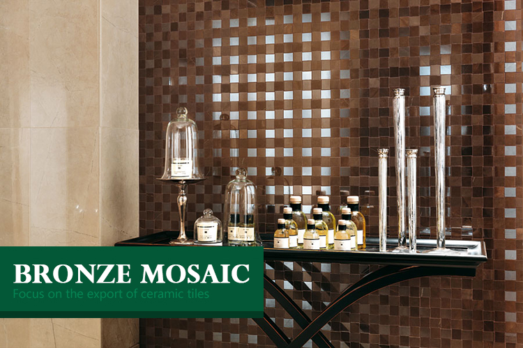 building material brushed metal pattern wall mosaic square rushed production bronze metal tile mosaic for home decorating