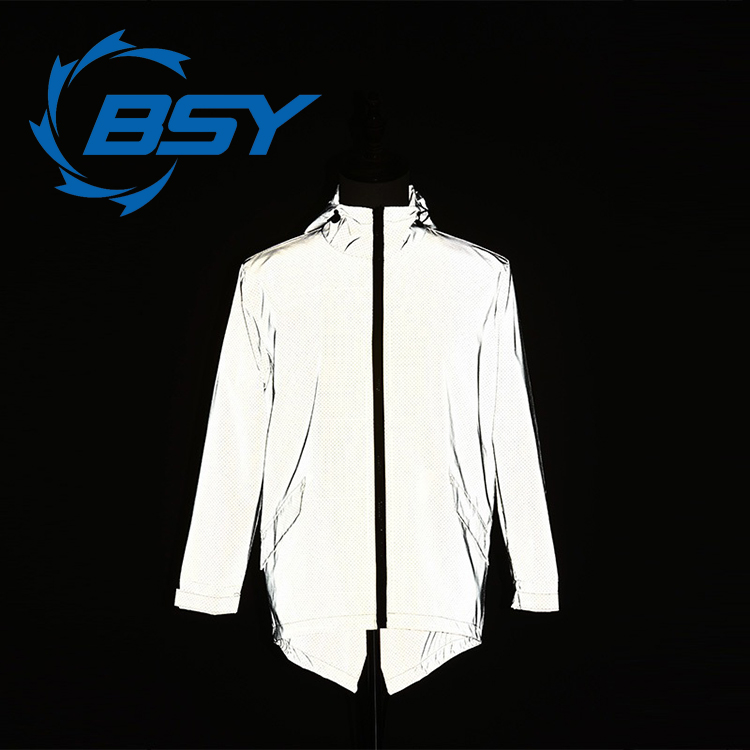Fashion Silver Anti-Simulation Polyester Hip Hop 3M Reflection Jacket