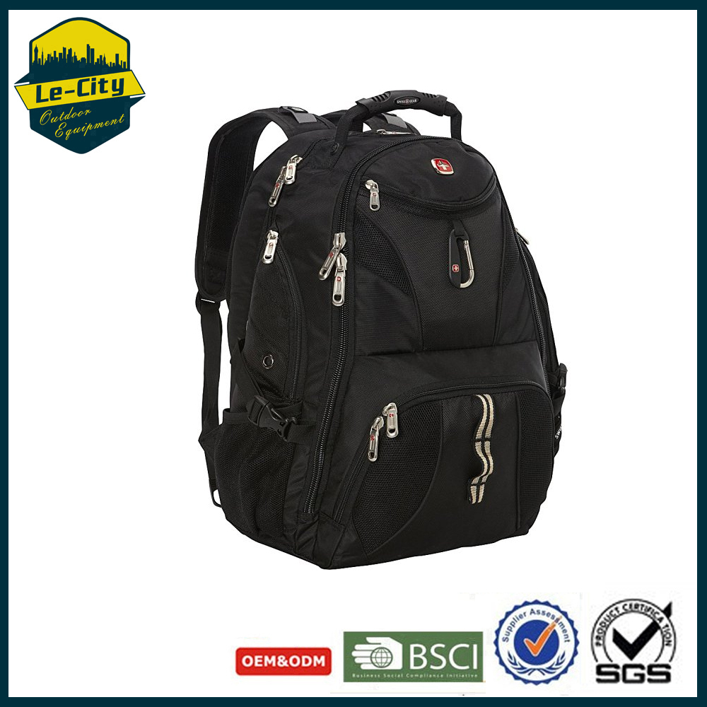 "Waterproof Travel Backpack 17"" laptop School Rucksack Swiss Gear laptop Backpack"