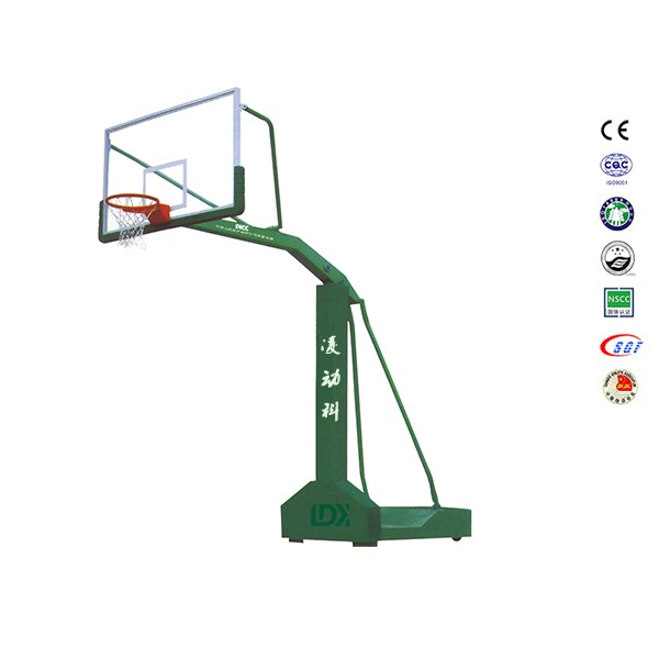 School Yards custom logo extension 2.25 m movable basketball stand