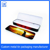 Student metal pencil box tinplate material pencil-case with 2 layer