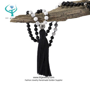 Wristbands Personalized Yoga Necklace Bodhi Seed Mala with Meditation Beads High Quality Handmade