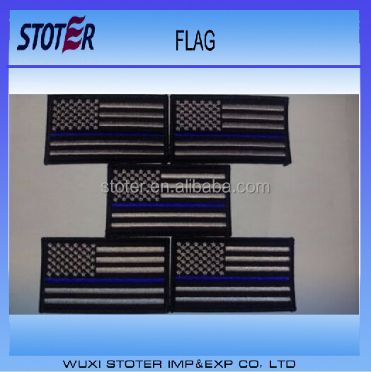 cheap Thin blue line USA embroidery patches