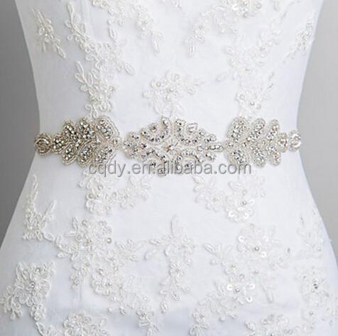 Bridal Gown Dress Crystal Embellishment Trim Sash Belt