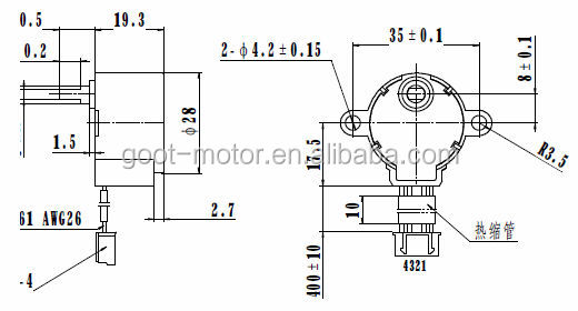 28mm 5 12v 28byj48 Stepping Motor Buy 28byj48 Stepping