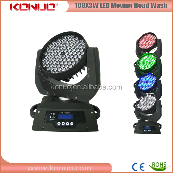 Stable quality led stage light for sale 108x3w RGBW /RGB 108 moving head led wash
