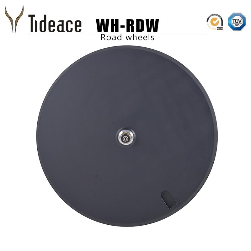 2018 Tideace Full carbon 700c disc wheel, carbon disc rear wheels Tubular for road/track/TT bike OEM rims, Black