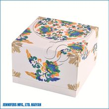 New style sturdy cardboard gift boxes with flower