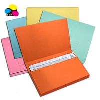 High Quality Eco-Friendly Customized Hot Products A4 300gsm Paper Document Wallet Assorted Color File Folder For Office