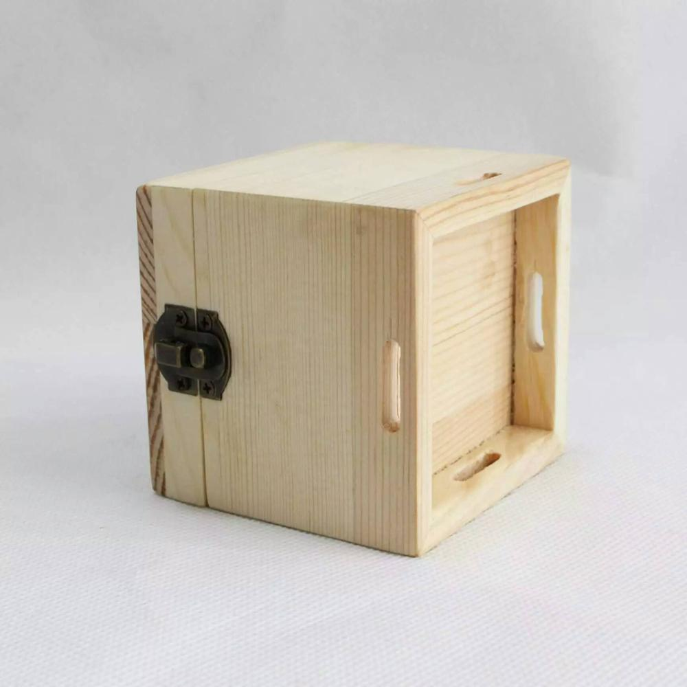 Mini small natural wooden storage box custom made jewely gift packaging box