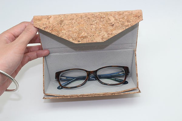 Promotional items eco leather eyewear cases with private logo