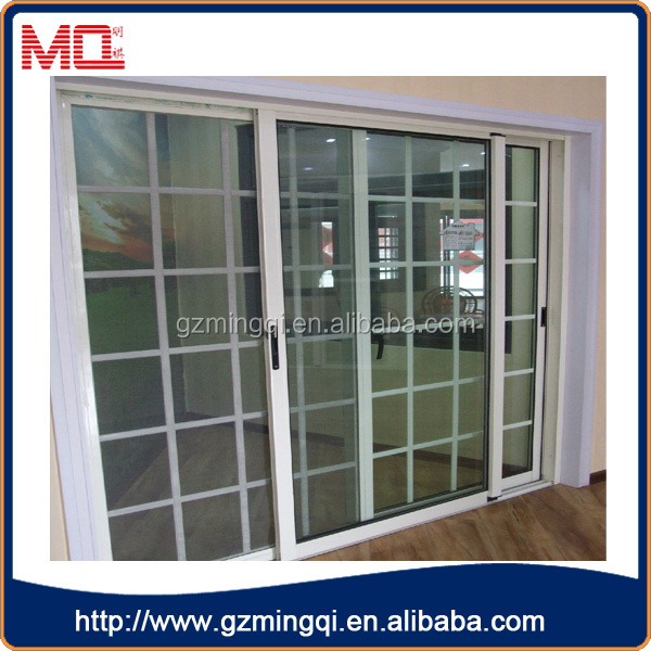 Hot Sale Pvc Frosted Glass Malaysian Doors With Grill Design For