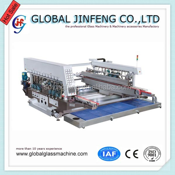 JFD-4200 20 Motors Big size Glass straight line double edge and polish processing machinery with CE