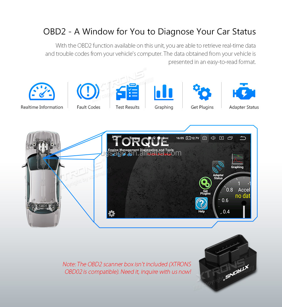 Xtrons 7 U0026quot  Touch Screen Android 9 0 2 Din Car Stereo Gps