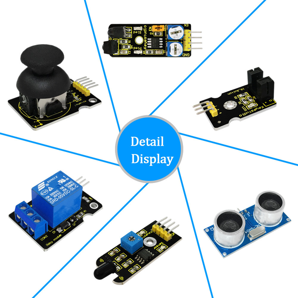 Free shipping!New Sensor Starter Kit For Arduino Education Project With  Mega 2560+Shield V1+Sensors+Dupont cable+PDF(online)