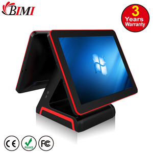 "15""+ 15'' pos system all in one touch pos cheap receipt printer pos machine with 80mm printer"