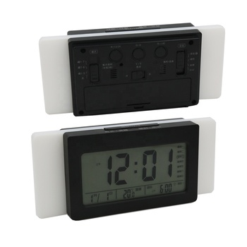 New smart creative mute luminous newspaper clock children students bedside LCD lazy electronic digital alarm clock thermometer