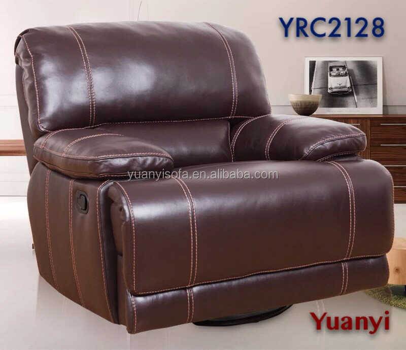 Yrc2128 Luxury Leather Rocking Recliner ChairLazy Boy Electric