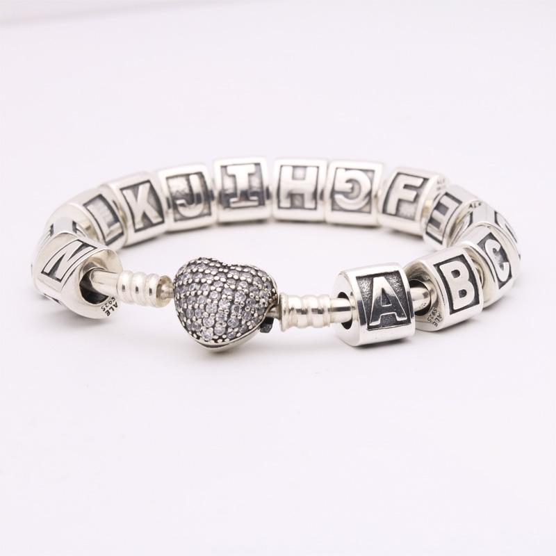 Letter Charm Bracelets: Pandora Bracelet Letter Charms