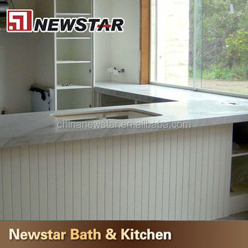 Newstar Polish Carrara White Marble Bar Tops