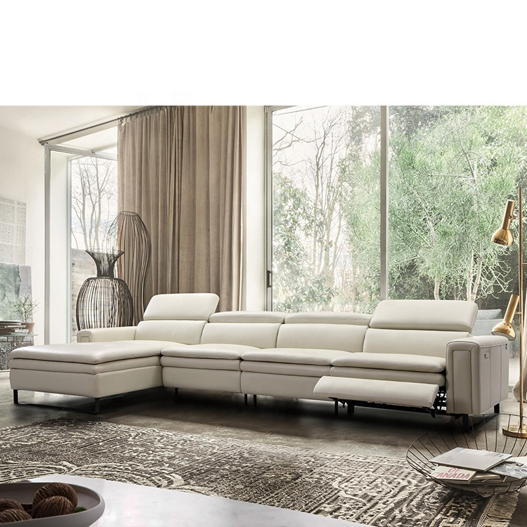 Modern Leather Cheap Furniture Grey Sofa Functional Electric