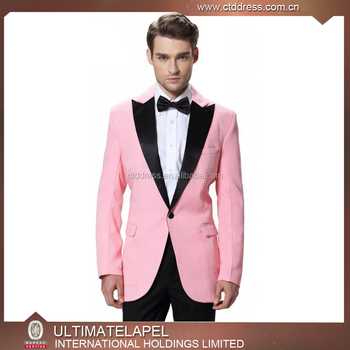 48377340724 2017 custom tailor made fashion style mens pink slim fit tuxedo suits