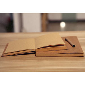 2018 Trending Durable Stitching Lay Flat Recycle Brown A5 Kraft Paper Notebook