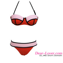 Top selling Pink Flirt Push up Bikini Swimwear hot sexi photo image