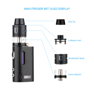 Alibaba new arrivals diy box mod parts Ultra 60 TC vape cigar & electronic  cigarette for sale in philippines