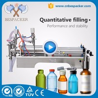 Pneumatic stainless steel Piston filler mineral water filling machine