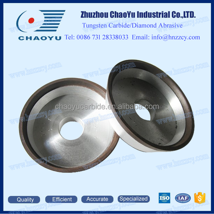 12V2 resin bonded/metal bonded dish CBN/Diamond grinding wheel for edge grinding of carbide tools