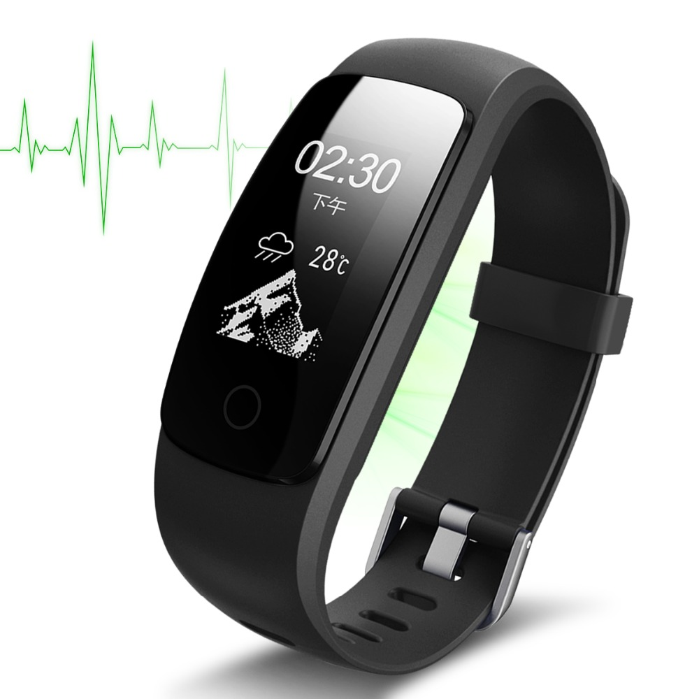 0.96' OLED Multi-touch Screen Smart Bracelet GPS Activity Tracker ID107 Plus HR