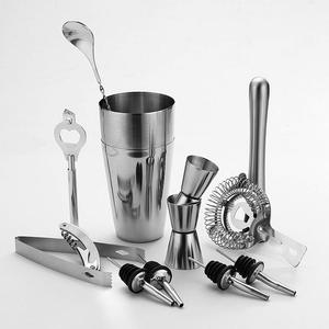 Bartender Set 9Pcs Wine Tools Bar Drink Cocktail Mixer Mixing Kit With Carry Case