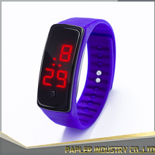 China Factory Supply Cheap Digital Blue Silicone Led Watch