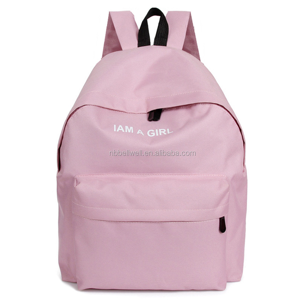 I Am A Girl Letters Embroidery Canvas Backpack for <strong>School</strong>