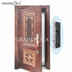 China wholesale metal steel door window insert design