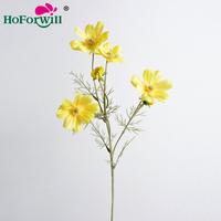 China manufacturer wholesale best price home wedding garden decorative flowers artificial silk fabric cosmos flowers