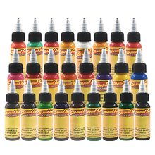 Ouliang Professionele 30 ml <span class=keywords><strong>Tattoo</strong></span> 25 Kleuren Pure Plantaardige Permanente <span class=keywords><strong>Tattoo</strong></span> <span class=keywords><strong>Inkt</strong></span> Set