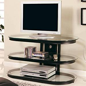 Coaster TV Stand in Black
