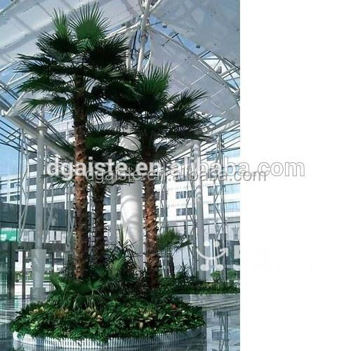 round leaf sturdy 6 meters fiberglass artificial fan plam tree