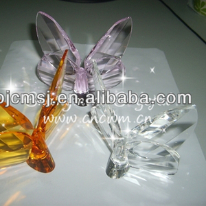high quality various colors elegant crystal butterfly