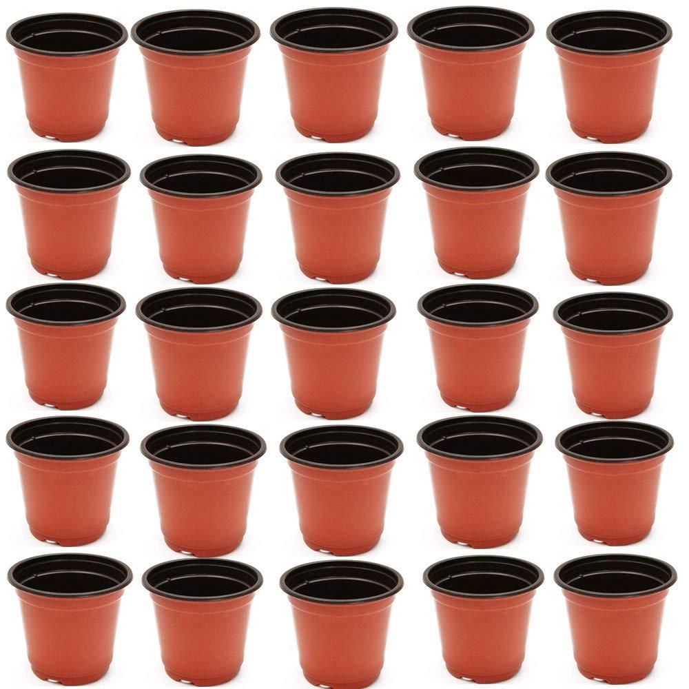 Get Quotations Weelongha Lot Of 100 4 3 75 Inch Plastic Flower Nursery Pots