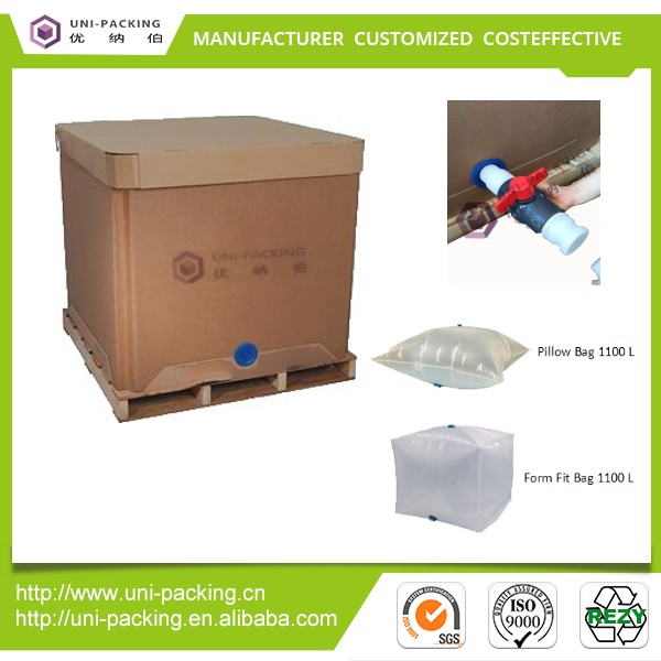 Paper IBC <strong>Manufacturers</strong> for Liquid Transport Sunflower Oil Palm Oil Paper IBC Container
