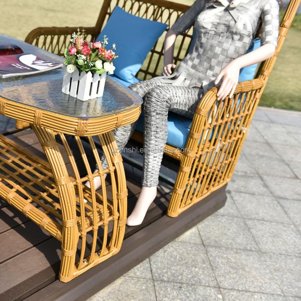 Nuevo dise o de 4 asientos de mimbre al aire libre for Diseno de muebles de jardin al aire libre